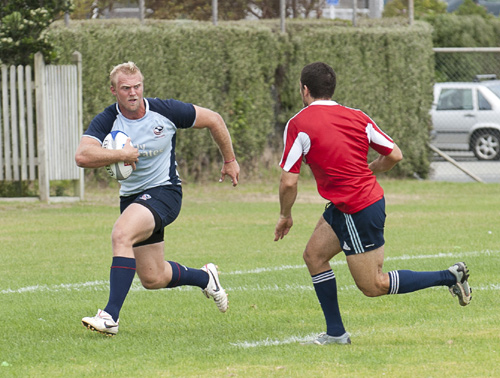 Matt Hawkins during a warmup game against Argentina, in Wellington.