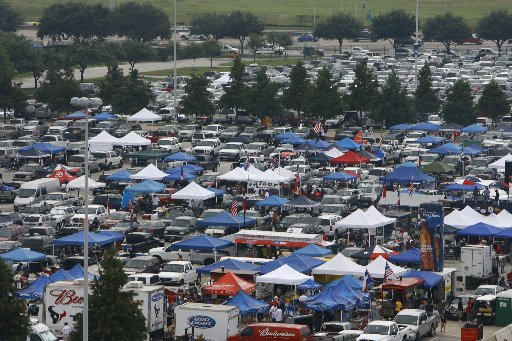 About 100,000 fans tailgate before Penn State University gridiron games.
