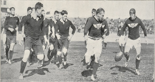 1910 USA Collegiate team in New Zealand - Photo courtesy of USA Rugby