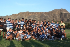 Napier Boys with Hawaii Youth Rugby